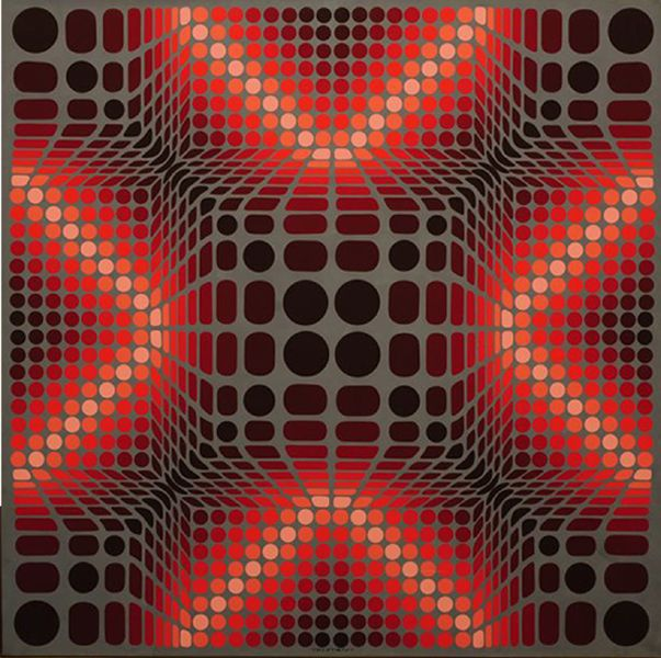 163 best artist victor vasarely images on pinterest for Geometric illusion art