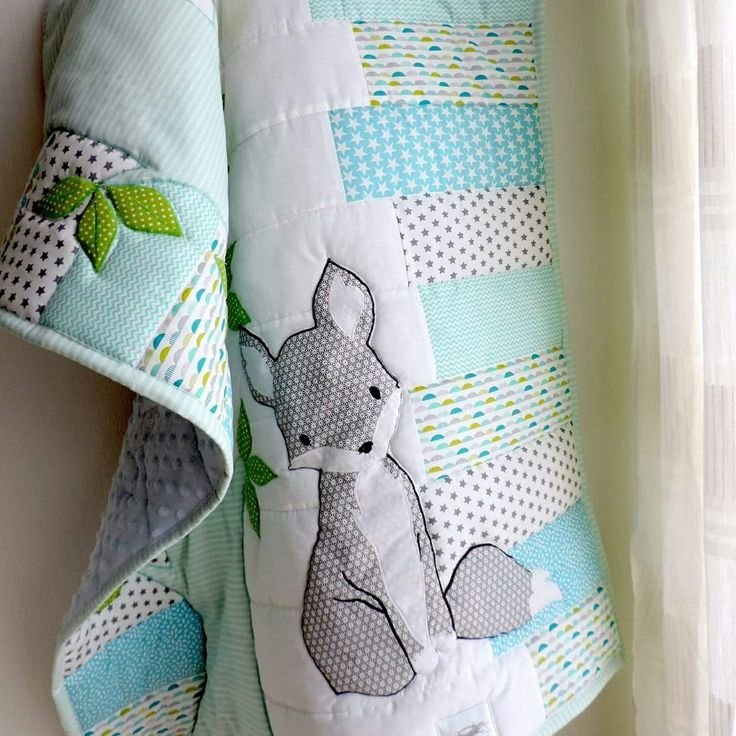 Another preferred color combination with a sweet little fox theme just perfect for a little baby boy.
