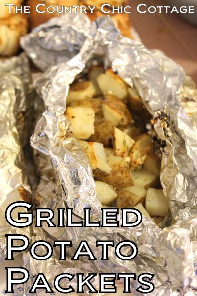 A great recipe for grilled potato packets with garlic and thyme.  Grab this recipe then add them to the grill next time you cook out.
