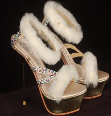 Gorgeous Multi Crystal High Platform Shoe With White Fur ( Euro Sizes 35-41), 86% off | Recycled BrideGem Sandals, Heels Sandals, Wedding Shoes, Crystals High, Platform Shoes, High Heels, High Platform, Shoes Heels, Sandals High