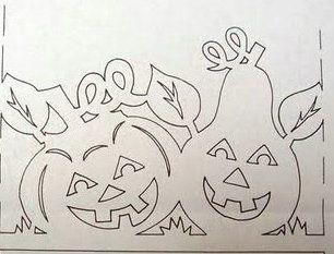 witraż - jesień, dynia, gruszka autumn / pumpkin / pear