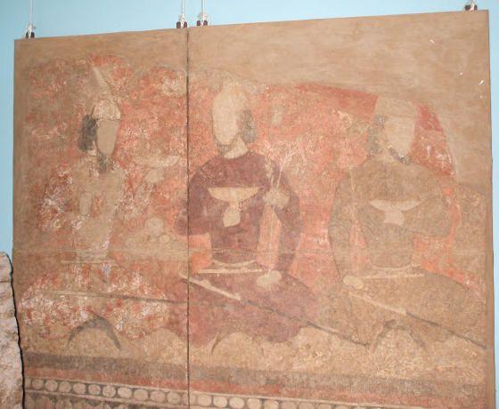 A Ritual Scene, Soghdian Murals at Piandjikent