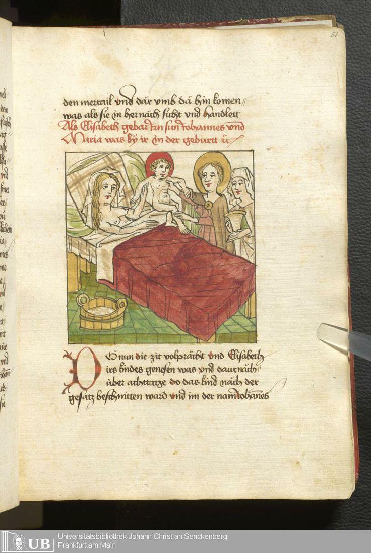 107 [51r] - Ms. germ. qu. 99 - Vita Jesu Christi in deutscher Bearbeitung - Page - Mittelalterliche Handschriften - Digitale Sammlungen Schwaben, [1472-76]