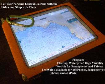 FrogSuits: Floating waterproof highly visible wetsuit for your ipad or tablet computer