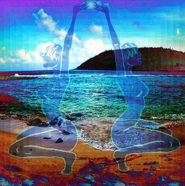 Kauai Print featuring the photograph Feminine Ocean Beings Embodied by Solveig Swenson