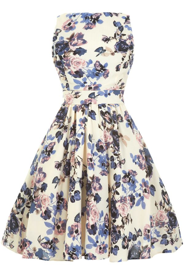 "This Limited Edition ""Lady Vintage"" 50s Tea Dress features a fully lined 50s style..."