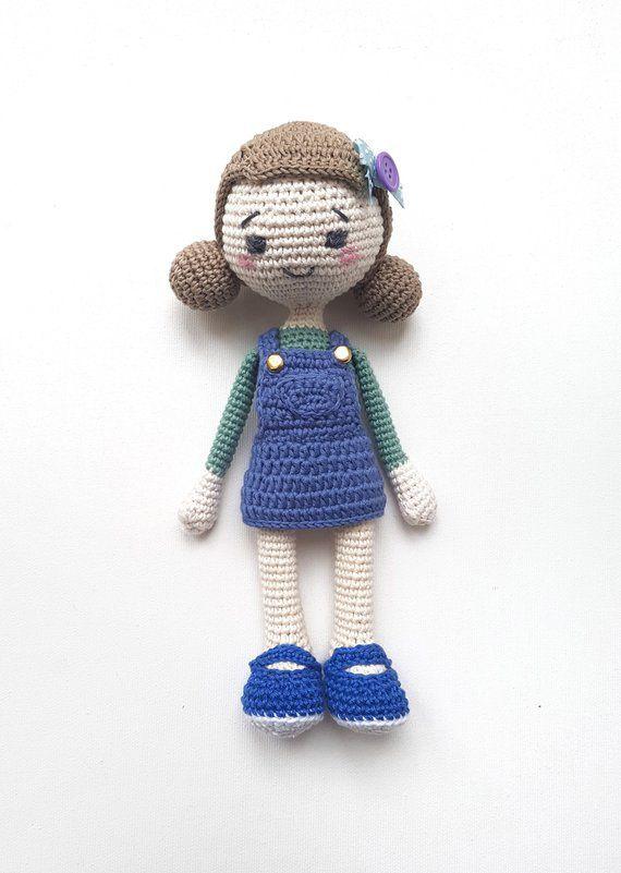 Amigurumi Doll Pattern Crochet Doll Pdf Pattern Amigurumi Etsy
