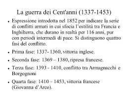 """da cosa è nata l'espressinone """"guerra dei 100 anni"""". Guerra dei 100 anni divisa in quattro fasi molto importanti"""