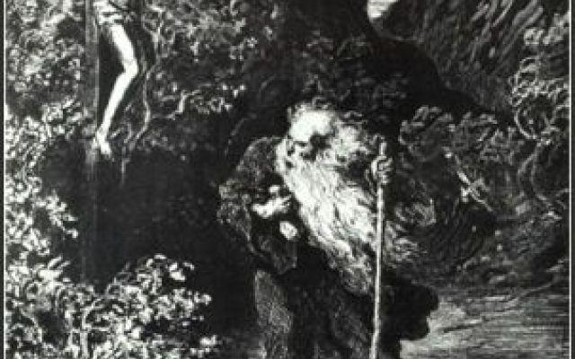 Mitologia cristiana - L'ebreo errante L'Ebreo errante è una figura della mitologia cristiana, un uomo ebreo che, stando alla leggenda, colpì Gesù lungo la via della Crocifissione e al quale fu data la maledizione di camminare sulla terra #ahasverus #crocifissione #dorè #gesù
