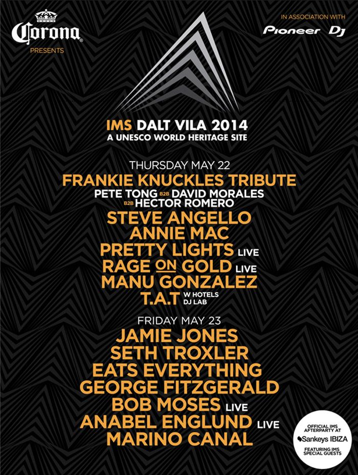 INTERNATIONAL MUSIC SUMMIT  FINAL SPEAKERS ADDED  Ministry of Sound CEO to Keynote Address  Music veteran Seymour Stein  Boy George  FRANKIE KNUCKLES TRIBUTE WITH  PETE TONG B2B DAVD MORALES B2B HECTOR ROMERO  IMS ANTHEM 2014  CREATED BY PRETTY LIGHTS - REMIXED BY MK  Newly added to the IMS Dalt Vila line-up on Thursday 22 May is a special tribute to the Godfather of House, Frankie Knuckles. To honour the untimely passing of a true innovator and inimitable pioneer