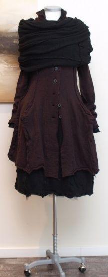 rundholz black label - Mantel gekochte Wolle rubin - Winter 2014 - stilecht - mode für frauen mit format...