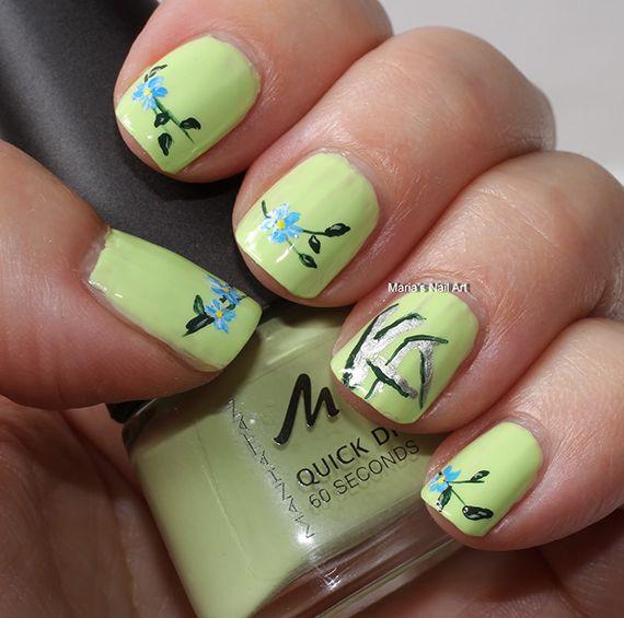 42 Fotos de uñas color verde - Green Nails | Decoración de Uñas - Manicura y NailArt