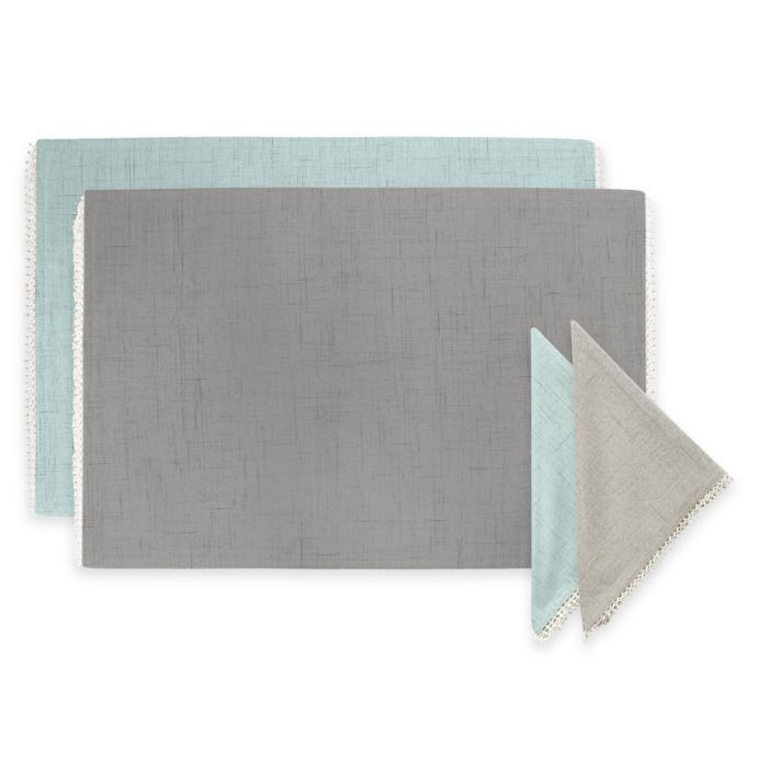 Lenox French Perle Solid Napkins And Placemat Bed Bath Beyond