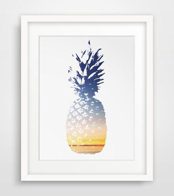 Pineapple Print Pineapple Art Summer Print by MelindaWoodDesigns, $5.00