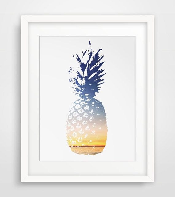 Pineapple Print Pineapple Art Summer Print by MelindaWoodDesigns, $5.00