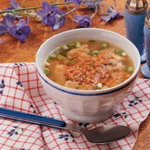 Sizzling Rice Soup - I always used to get this when we went out for Chinese as a kid. Now I have to make it.