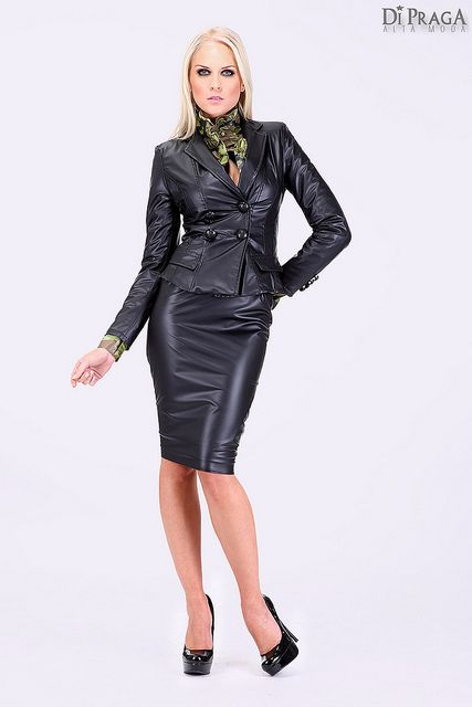 olympiasfashions: Leather skirt suit on Flickr. | Clothes to draw ...