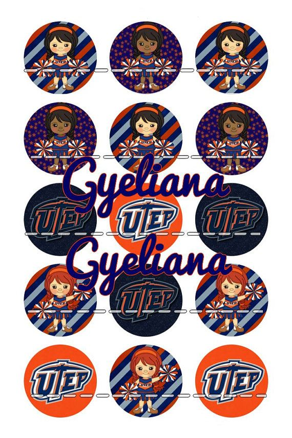 Utep Miners Cheerleaders 1 Bottlecap Instant by GyelianaSupplies, $1.50