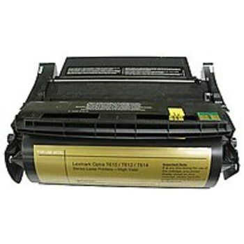 Office Depot 845-745-ODP Lexmark 12A5845/12A5745 Remanufactured High Yield Toner Cartridge for Optra T610, T612, T614 Printers - Black