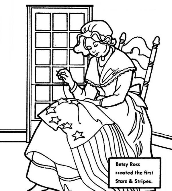 independence day  betsy ross making united states flag