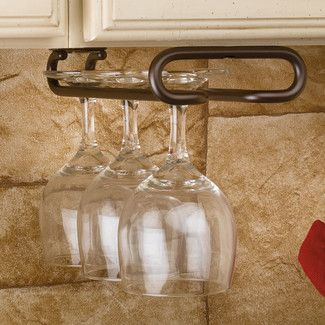 Found it at Wayfair - Rev-A-Shelf Hanging Wine Glass Rack - Finish: Oil Rubbed Bronze