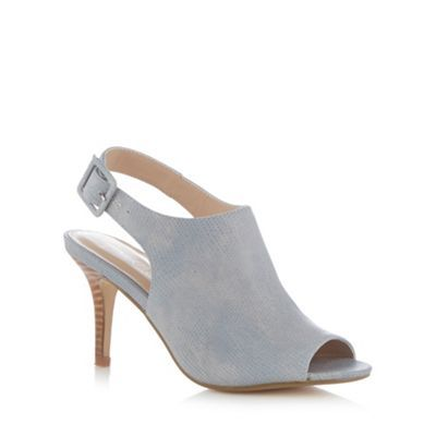 J by Jasper Conran Designer light blue leather reptile slingback high court shoes- at Debenhams.ie