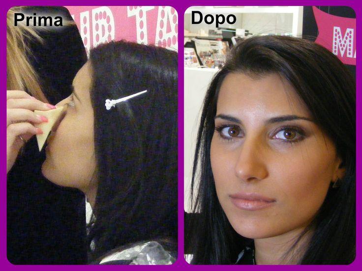 Il prima e dopo trucco della modella Alessia, eseguito dal semifinalista Giulia Costantinelli.