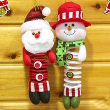 Boneco de neve de Santa X'mas pingente enfeites de árvore de natal decoração de pára-quedas átrio acessórios(China (Mainland))