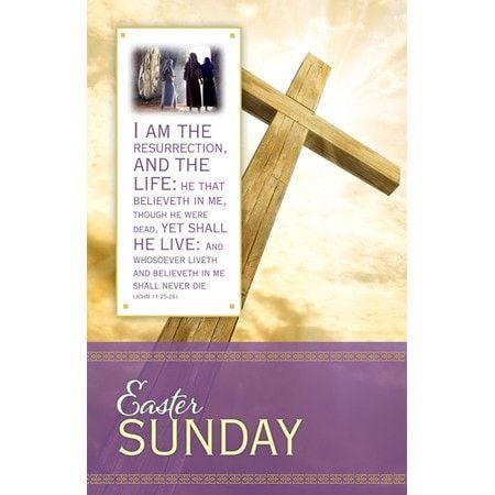 Easter - The Resurrection (John 11:25-26, KJV) Bulletins, 100
