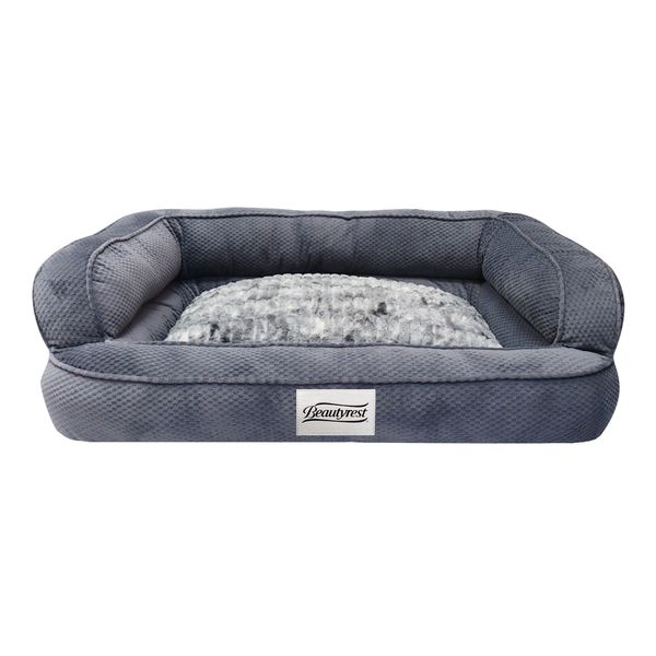 Give your dog the ultimate blissful sleep with the Simmons Beautyrest Colossal Rest orthopedic dog bed. Designed for both comfort and style, the memory foam chip and extra padded walls provide ample s