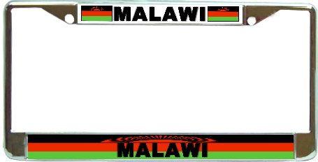Malawi Flag Metal License Plate Frame Holder Chrome by BlingSity, $18.95