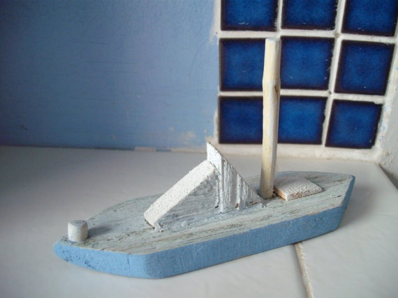 Shabby chic Sailing Boat by NobleHeartCreations on Etsy, £4.85Shabby Chic, Chic Sailing, Sailing Boats