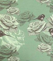 STENZO BIO JERSEY Birdie Roses auf Mintgrün