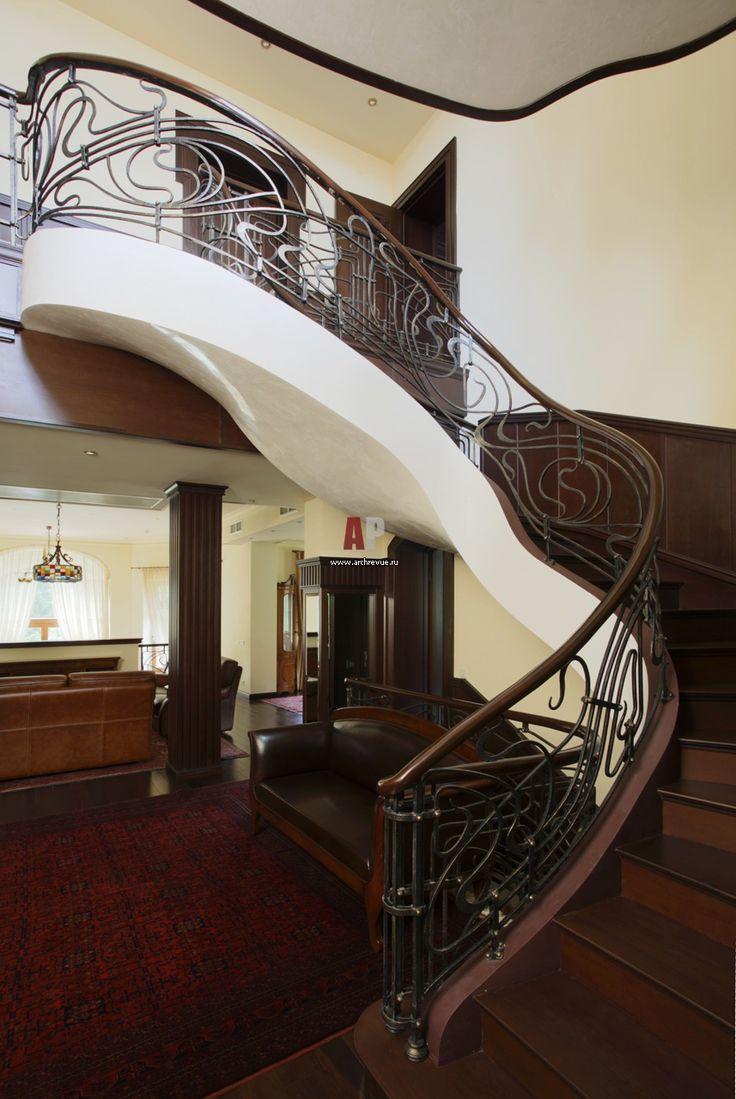 Фото лестницы дома в стиле модерн