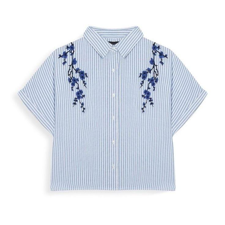 Camisa corta a rayas con bordado  Categoría:#primark_mujer #ropa_de_mujer #tops en #PRIMARK #PRIMANIA #primarkespaña  Más detalles en: http://ift.tt/2BUBH2m