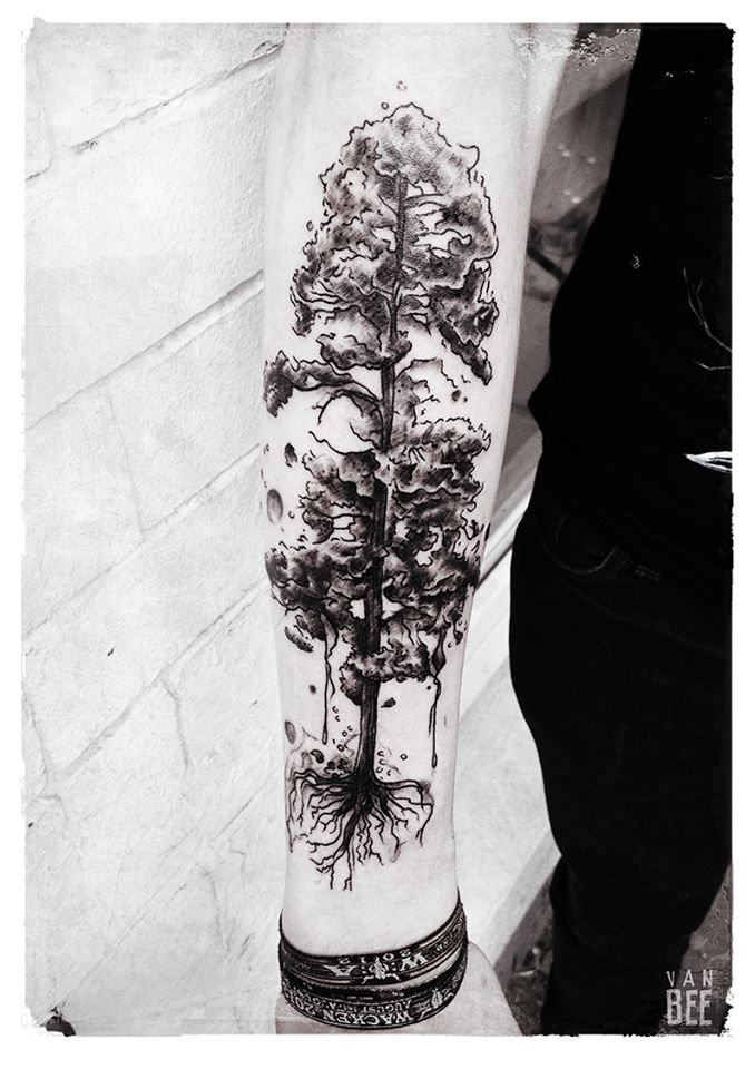 Pine Tree Tattoo On Arm Photo - 2: Real Photo, Pictures, Images and Sketches – Ideas Tattoo Collection