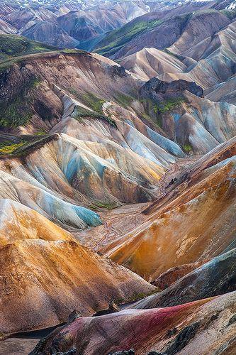 Rhyolith hills in Landmannalaugar,Vestur-Skaftafellssysla, Iceland
