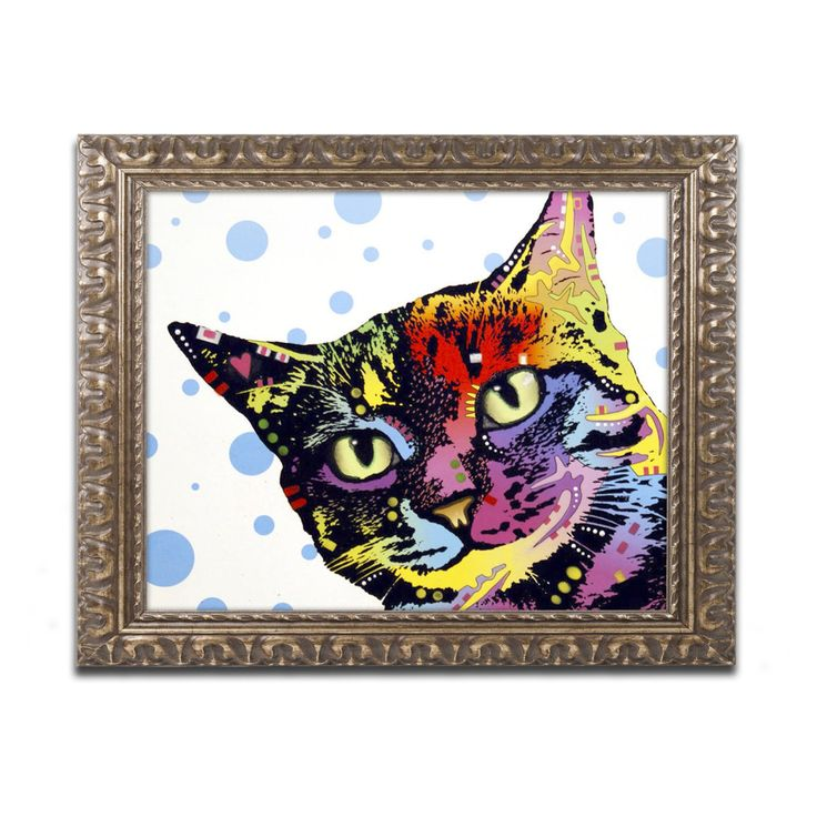 Trademark Fine Art Dean Russo The Pop Cat Framed Wall Art - ALI1649-G1114F