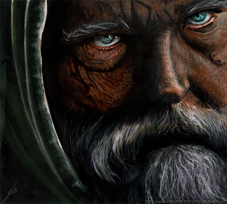 Old Man Hood ( illustration with markers )