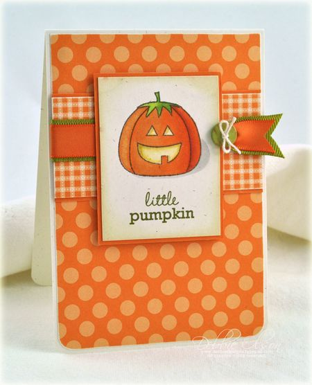 Little Pumpkin Card by Debbie Olson for Papertrey Ink (August 2012)