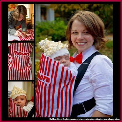 Dollar Store Crafter: Baby Carrier Movie Popcorn Costume