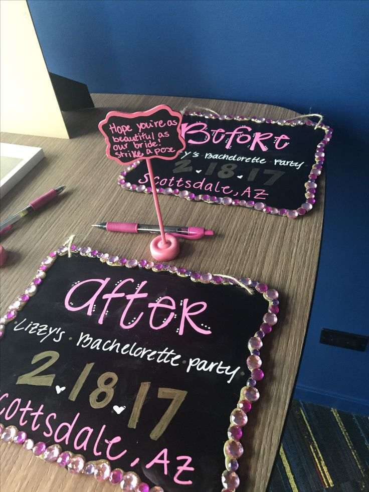 Before and after sign bachelorette party