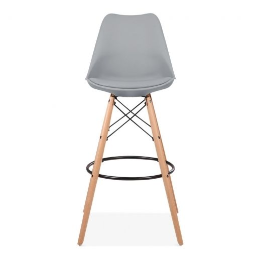 Cool Grey 75cm Bar Stool with Eames inspired Style Leg | Kitchen Stools