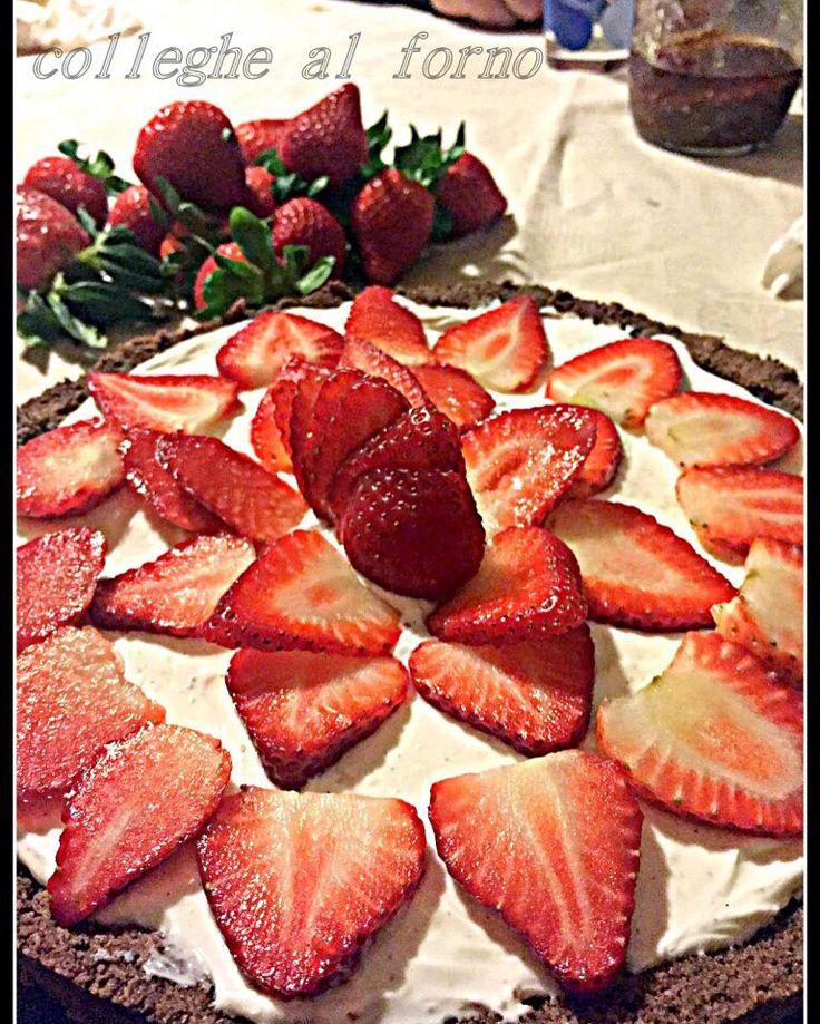Crostata senza cottura... #ricetta #loveit http://blog.giallozafferano.it/colleghealforno/crostata-uova-ciccolato/
