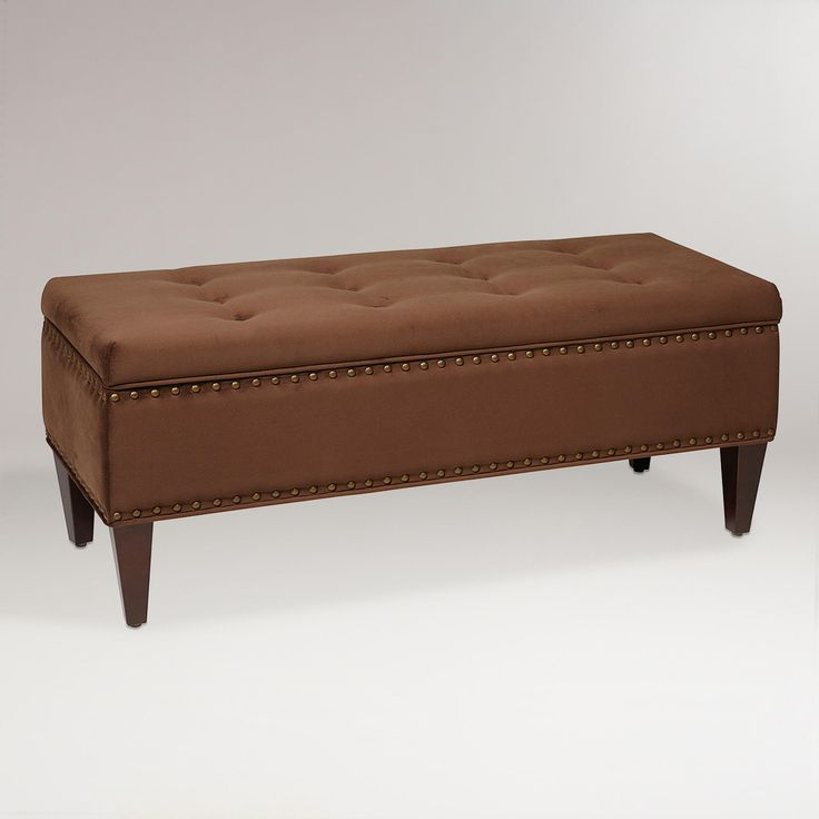 Chocolate Burnett Storage Bench -- for bedroom?