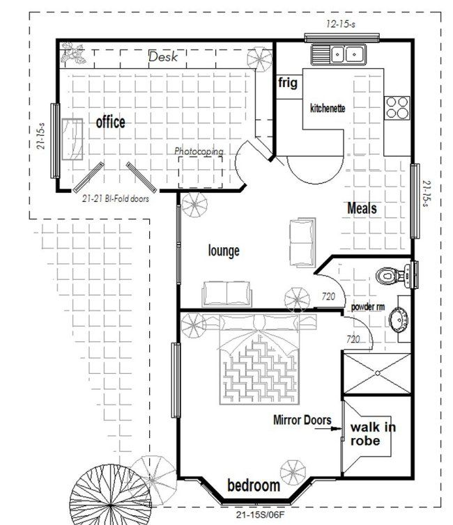 L shaped granny flat house pinterest small houses for L shaped log cabin floor plans