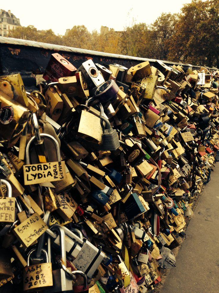 Love Lock Bridge, Paris, France.