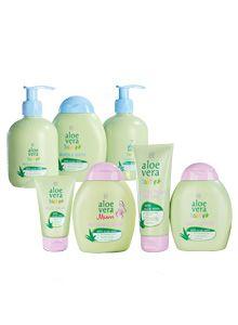 tolle Aloe Versa baypflegeartikel wie z.B shampoo, waschcreme, Massage Balm usw