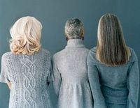The Gorgeous Way To Gray and a really good article on how to go gray......