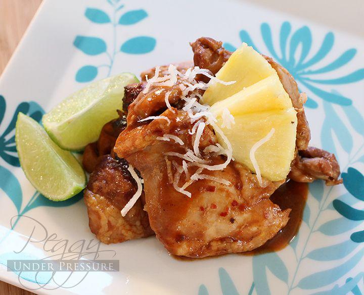 Hawaiian BBQ Chicken {Electric Pressure Cooker Recipe} | Peggy Under Pressure